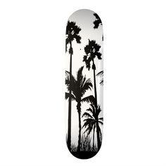 Skateboard Room, Skateboard Design, Skateboard Decks, Skateboard Helmet, Custom Skateboards, Cool Skateboards, Palm Tree Print, Palm Trees, Great Wave Off Kanagawa