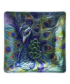Look what I found on #zulily! Peacock Platter by LS Arts #zulilyfinds