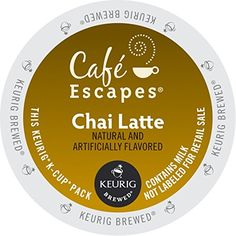 Keurig Caf Escapes Keurig K Cups Chai Latte KCup packs 48Count * Click image for more details. Note: It's an affiliate link to Amazon.