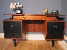 Mid Century Desk Vintage G Plan Teak Retro Drawers Storage | Etsy