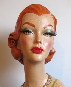 Redheaded Freckle-faced Head Mannequin