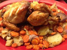 Baked chicken with potatoes n carrots :)