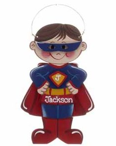 Buy Super Hero Boy - Personalized Children's Christmas Ornaments, Gifts, and Decorations at the Ornament Shop. Over 5000+ items.
