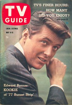 "May 9, 1959. Edward Byrnes of ABC's ""77 Sunset Strip."""