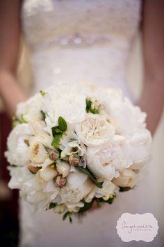 Peony & David Austin rose bouquet; bridal; wedding