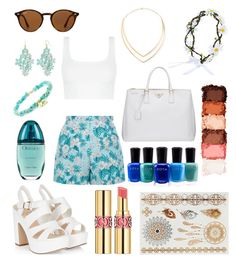 """""""Untitled #311"""" by angelicaaans ❤ liked on Polyvore featuring New Look, Ray-Ban, Prada, Decree, Zoya, Lana, Yves Saint Laurent, Calvin Klein and NYX"""