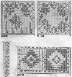 lots of charts Crochet Pouf, Tapestry Crochet, Thread Crochet, Crochet Stitches, Filet Crochet Charts, Knitting Charts, Crochet Tablecloth, Crochet Doilies, Crochet Designs