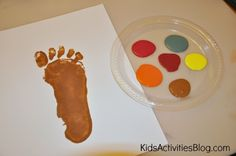 Colorful Finger Prints Make the Perfect Preschool Fall Craft