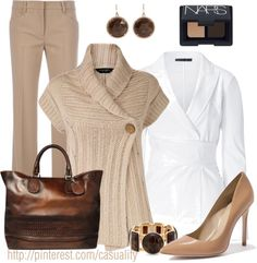 """""""Gucci Woven Tote & Wrap Sweater Cardigan"""" by casuality on Polyvore"""