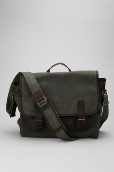 Messenger Bag from eco-conscious label United By Blue, rugged canvas and leather - $90