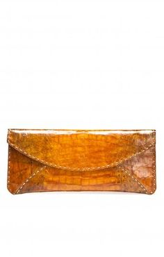Edition01 Large Stitch Crocodile Envelope Clutch for Edition01