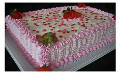 Vanilla Layer Cake Recipe, Layer Cake Recipes, Birthday Sheet Cakes, Pretty Birthday Cakes, Rectangle Cake, Cake Stencil, Different Cakes, Square Cakes, Small Cake
