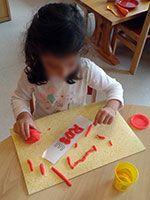 Prénoms en pâte à modeler Petite Section, Maths, Montessori, Walk In, Language, Visual Arts
