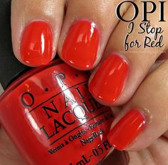 OPI I STOP for Red Nail Polish // Brights by OPI for Summer 2015