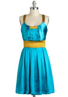 Head to Topaz Dress, Modcloth. For dancing. And for life in general. Retro Vintage Dresses, Vintage Outfits, Chic Outfits, Pretty Outfits, Pretty Clothes, Mod Dress, Dress Up, Cotton Dresses, Blue Dresses