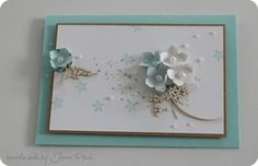 Stunning card from Jenni Pauli using the petite petals punch