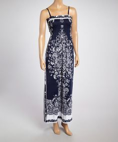 Take a look at the Blue Paisley Maxi Dress on #zulily today!