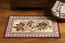 Country Hearts And Stars Berries Bless This Home Accent Small Area Bath Rug Mat