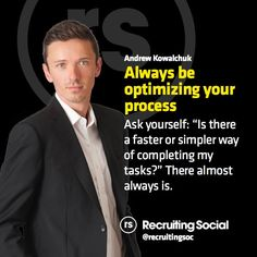 A #recruitment #process tip from Andrew Kowalchuk  #rsTips #productivity
