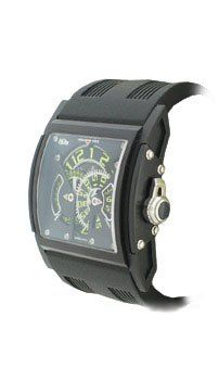 HD3: Three Minds Limited Edition Men's Watch ( Black PVD Titanium Case / Black & Blue Skeleton Dial / Black Leather Strap)