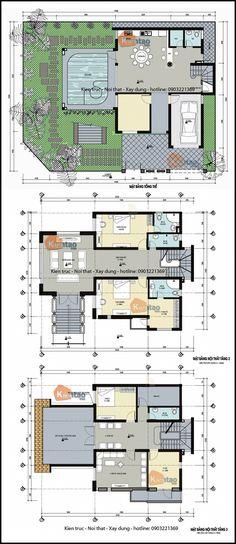 Mặt bằng kỹ thuật tham khảo dành cho mẫu nhà biệt thự đẹp 3 tầng 120m2, Thiết kế nhà đẹp hiện đại