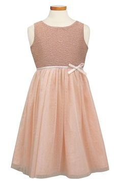 Sorbet Ribbon Rosette & Glitter Tulle Dress (Toddler Girls & Big Girls) available at #Nordstrom