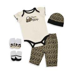 Baby Essentials Born to Shop 5-Piece Layette Set - buybuyBaby.com