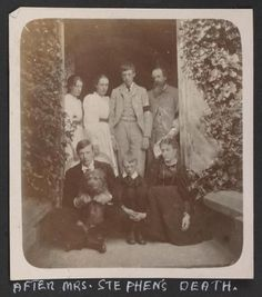 Virginia Woolf and family after the death of her mother Julia Jackson Stephen in 1895