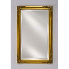 Afina Estate Framed Wall Mirror Finish: Antique