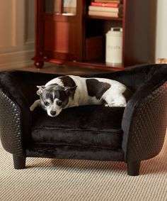 Love this Black Sofa Pet Bed by Enchanted Home Pet on #zulily! #zulilyfinds