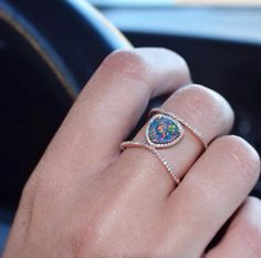 Double Band Opal ring – Luna Skye by Samantha Conn