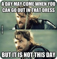 Over-protective Father Aragorn