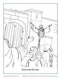 This Free Coloring Page Based On Nehemiah Will Help Kids Learn About The Story Of Ezra And Importance Hearing Learning Bible