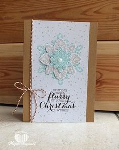 Magical Scrapworld: Stampin' Up!, Christmas card, flurry of wishes,