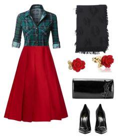 """#rock💋"" by loredana-tonno on Polyvore featuring moda, Nina Ricci, Yves Saint Laurent e Disney"