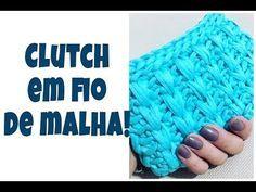 Aprenda a fazer clutch feita em crochê com fio de malha! - YouTube