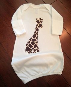Baby Boy Giraffe Take Me Home Gown by GirlyBowsandThings on Etsy
