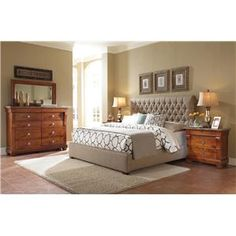 Upholstered Belmar Upholstered Bed With Button Tufted Headboard By