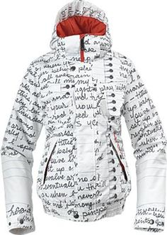 wow i love this ski jacket... but i love my current one more! Married to the mob + Burton