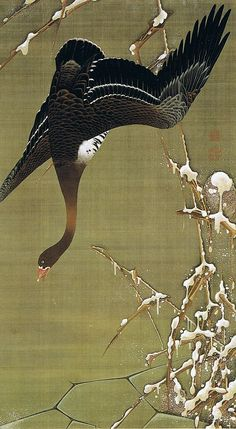 伊藤 若冲(Ito Jakuchu)   芦雁図(ろがんず)   :  Museum of the Imperial Collections