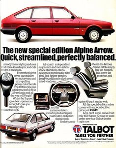 The Talbot Alpine, originally the Chrysler Alpine. Absolute pile of rotten crap, my Dad owned one...