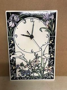 Vintage-Santa-Barbara-Ceramic-Design-Pottery-Wall-Clock Ceramic Design, Vintage Santas, Floral Wall, Santa Barbara, Clock, Pottery, Ceramics, Watch, Ceramica