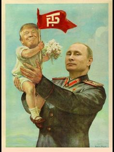 Just a funny picture in the style of classic Soviet propaganda. The link leads to a large version.