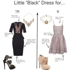 """""""Little Black Dresses for Romantic Types"""" by thewildpapillon on Polyvore"""
