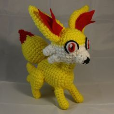 Fennekin - Pokémon Character - Free Amigurumi Pattern here: http://amiguru.tumblr.com/post/104193078426/fennekin-pattern