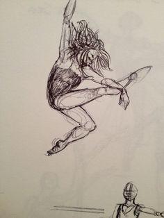 Dancer jumping. MGV