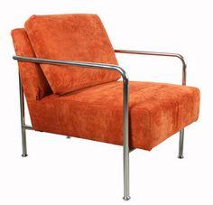 Bommel fauteuil oranje design stoel