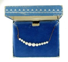 Vintage Retro Pearl Starter Add a Pearl  Necklace by villagejewel