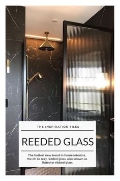 Inspiration: the mysteriously seductive reeded glass Glass Bathroom Door, Glass Shower Doors, Glass Kitchen, Shower Screens, Glass Wardrobe Doors, Reeded Glass, Bathroom Trends, Bathroom Ideas, Glass Room Divider