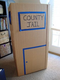 jail made out of box
